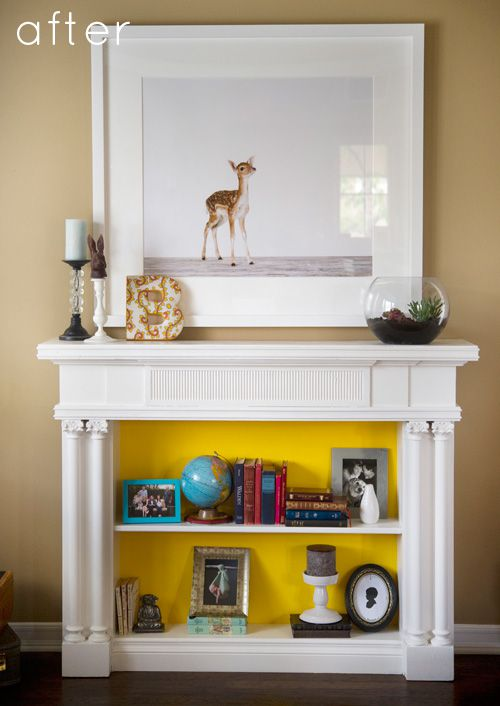 5 Ways To Fake A Fireplace Mantel Infarrantly Creative
