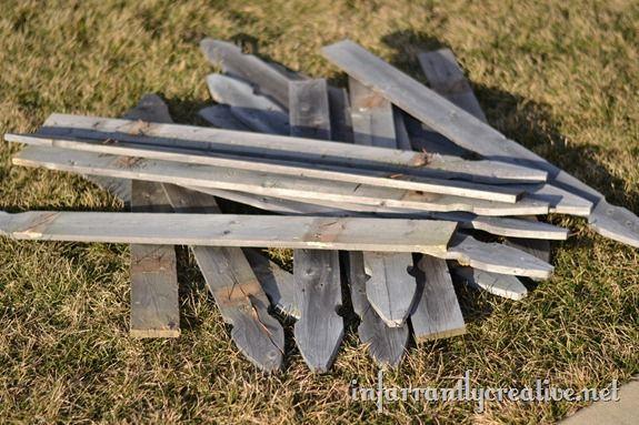 old fence slats