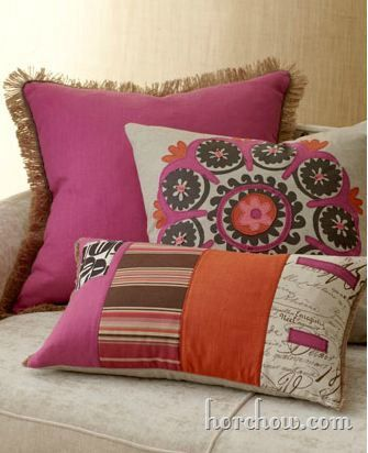 orchid accents pillow