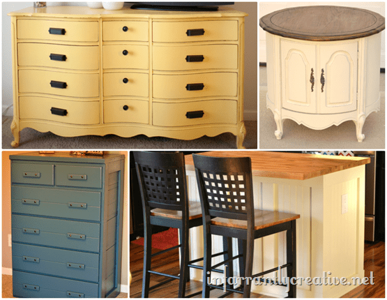 painted furniture pieces
