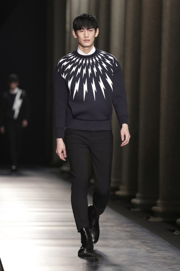 Neil Barrett Autumn Winter 14 runway