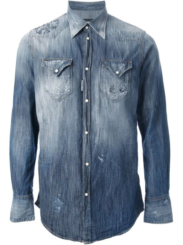 dsquared denim shirt