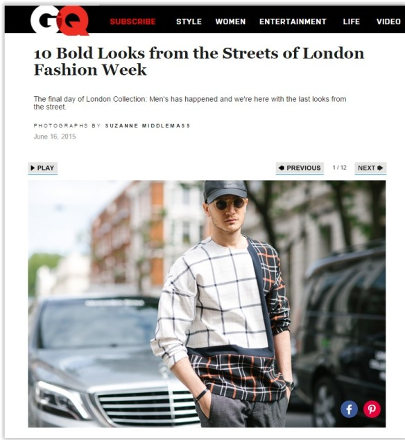 GQ.com 10 bold looks London Fashion Week