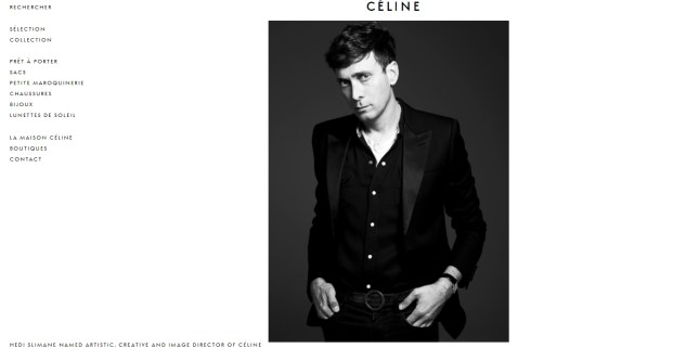 celine website hedi slimane
