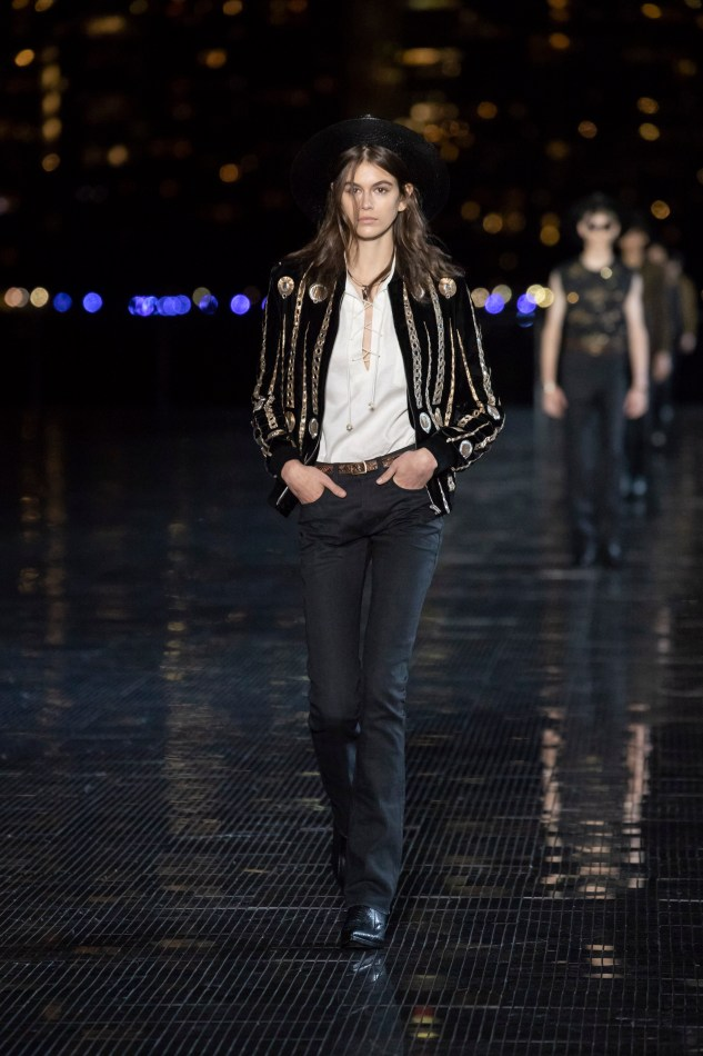 kaia gerber saint laurent men ss19 nyc