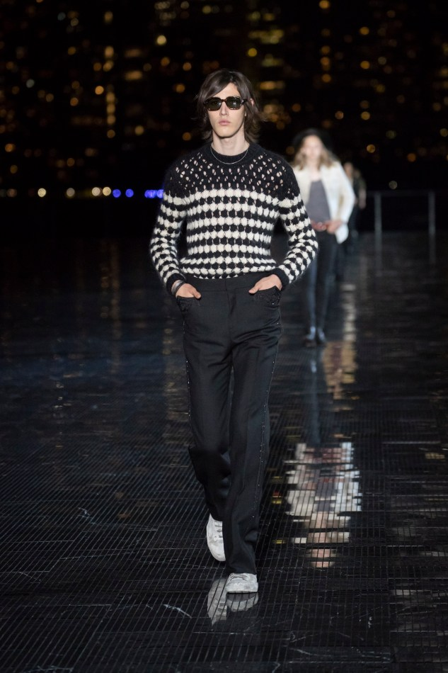 saint laurent menswear spring summer 19 collection anthon vacarello infashionity review knitwear