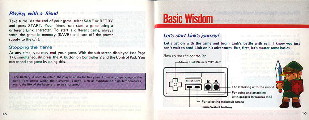Zelda Nes Manual User Guide Manual That Easy To Read