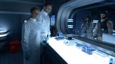 """Die Wissenschaftler bei der """"Arbeit"""""""