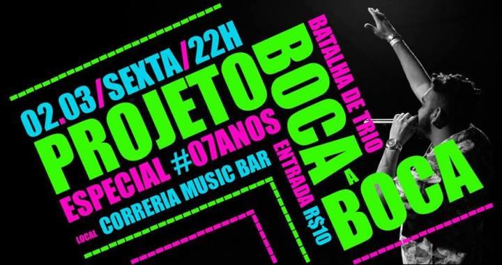 Projeto Boca a Boca comemora 7 anos nesta sexta no Correria