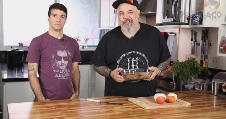 E esse bife de soja cabuloso feito por Rodrigo Lima (Dead Fish) e João Gordo?