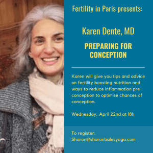 Karen Dente, MD, Preparing for Conception @ Zoom