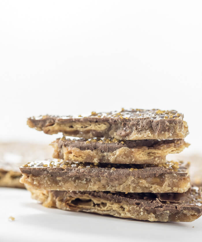 Chocolate Saltine Toffee (Christmas Crack) toffee saltines holiday Christmas Crack Christmas candy christmas chocolate candy