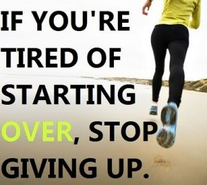 stop giving up