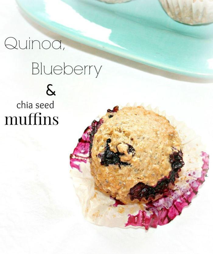 Quinoa muffins with blueberry and chia | infinebalance.com #recipe #vegan