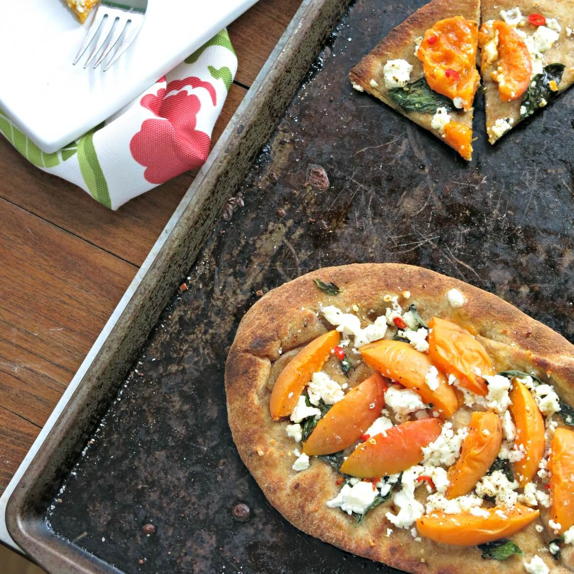 Apricot and Feta Flat Breads