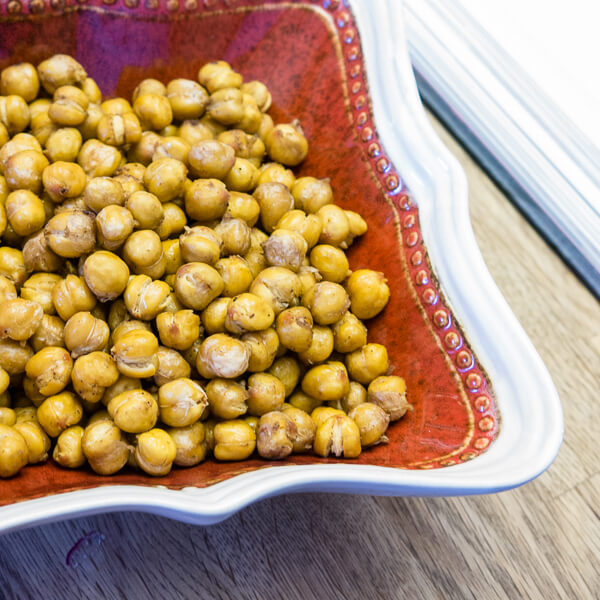 Curry Spiced Toasted Chickpeas soup salads roasted curry chickpeas