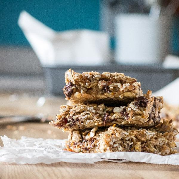 Nut-Free Granola Bars for the Lunch Box #vegan