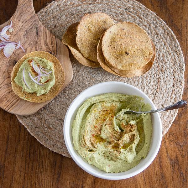 Fava Bean Hummus (Bissara) vegan spread pita hummus fava bean dip beans