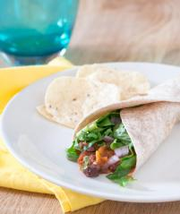 Sweet Potato and Black Bean Tacos | infinebalance.com #vegetarian #crockpot #slowcooker