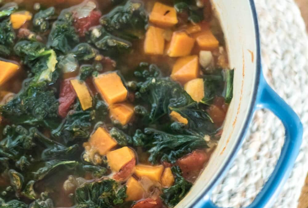 Sweet Potato and Kale Tortilla Soup