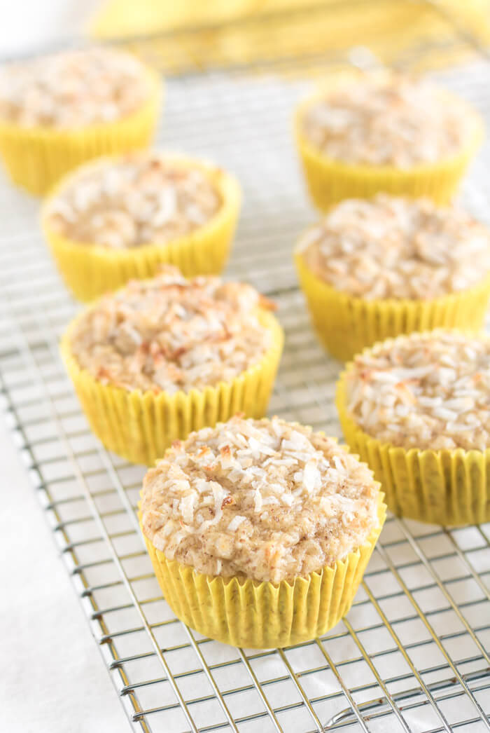 Pineapple Coconut Muffins #GF #V | the infinebalance food blog
