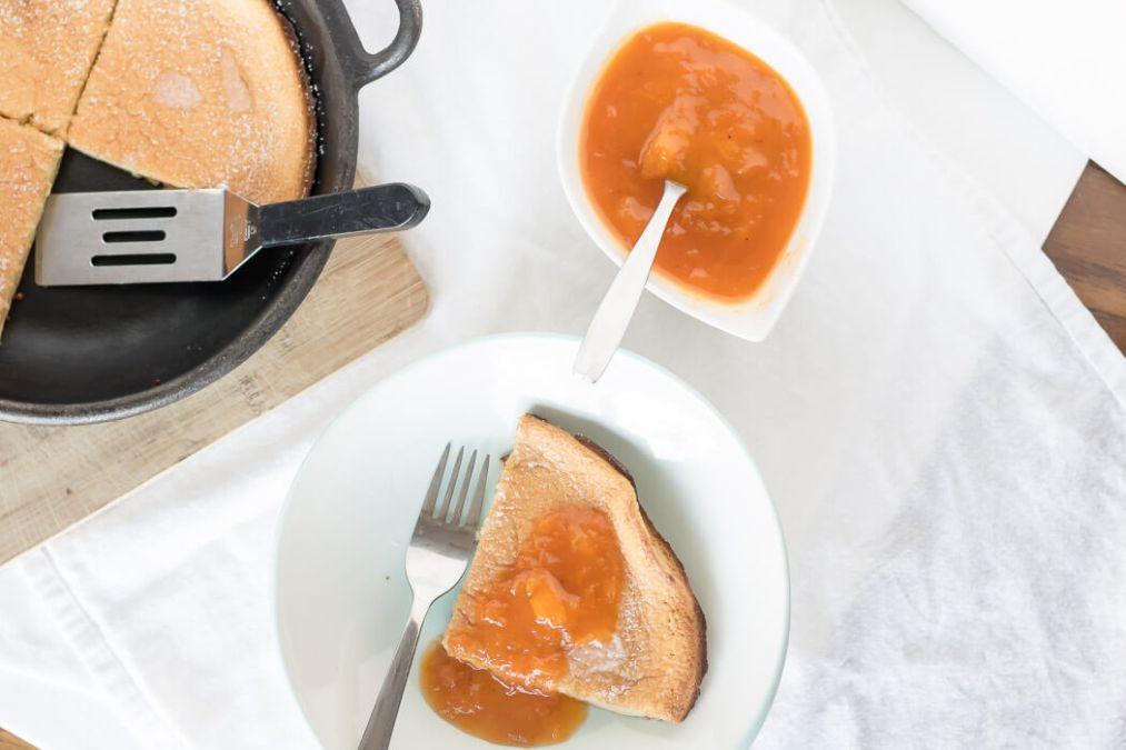 Apricot Dutch Baby Pancake