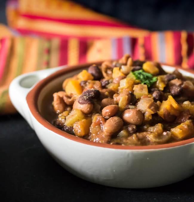 Vegan Butternut Chili. A Slow-cooker Recipe