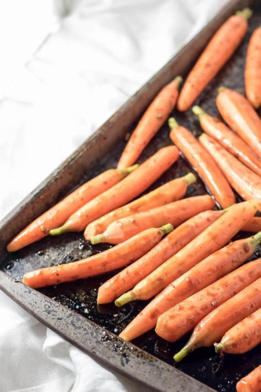 Balsamic and Garlic Roasted Carrots with Parmesan | infinebalance.com #recipe