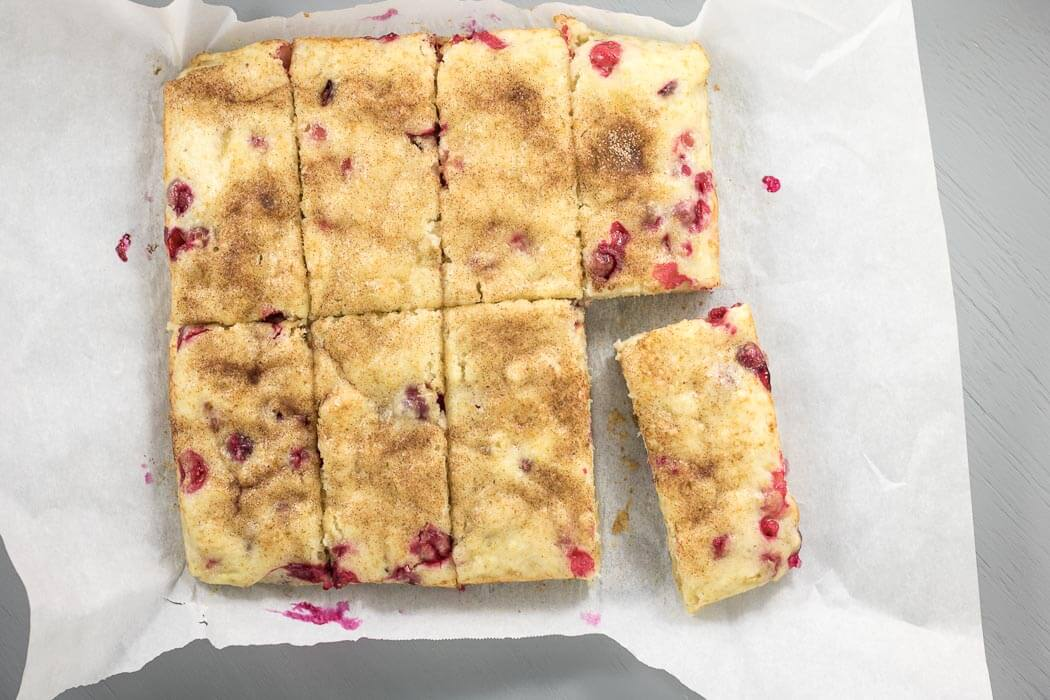 Vegan Cranberry Ginger Snack Cake winter snack cake holiday ginger cranberry Christmas morning christmas brunch