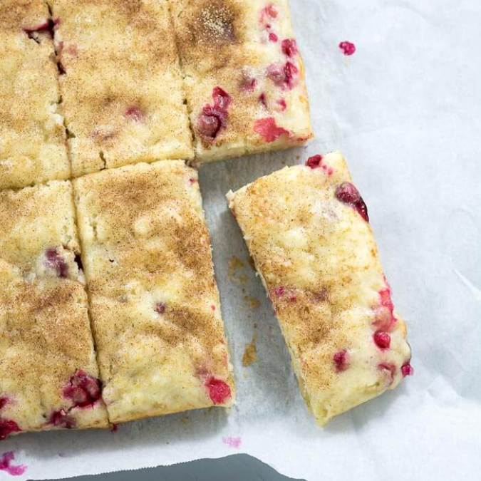 Vegan Cranberry Ginger Snack Cake
