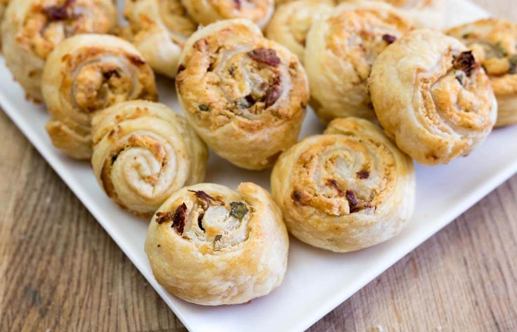 Sundried Tomato Cheese Rolls