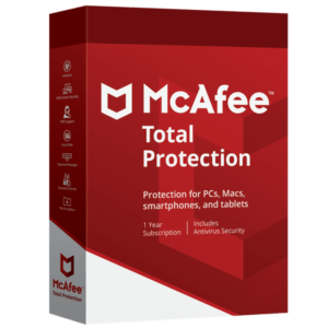 Mcafee Total Protection 2019 Dispositivos Ilimitados PC/MAC/Mobile Por 4 Años MFR # 6180829