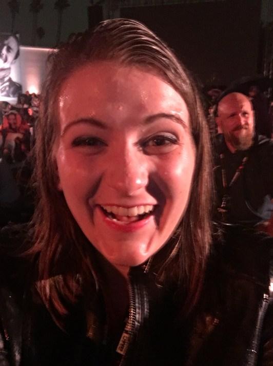 I'm soaked.