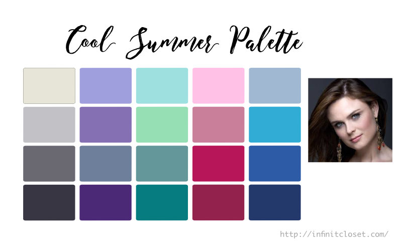 Some colors from the Cool Summer Palette