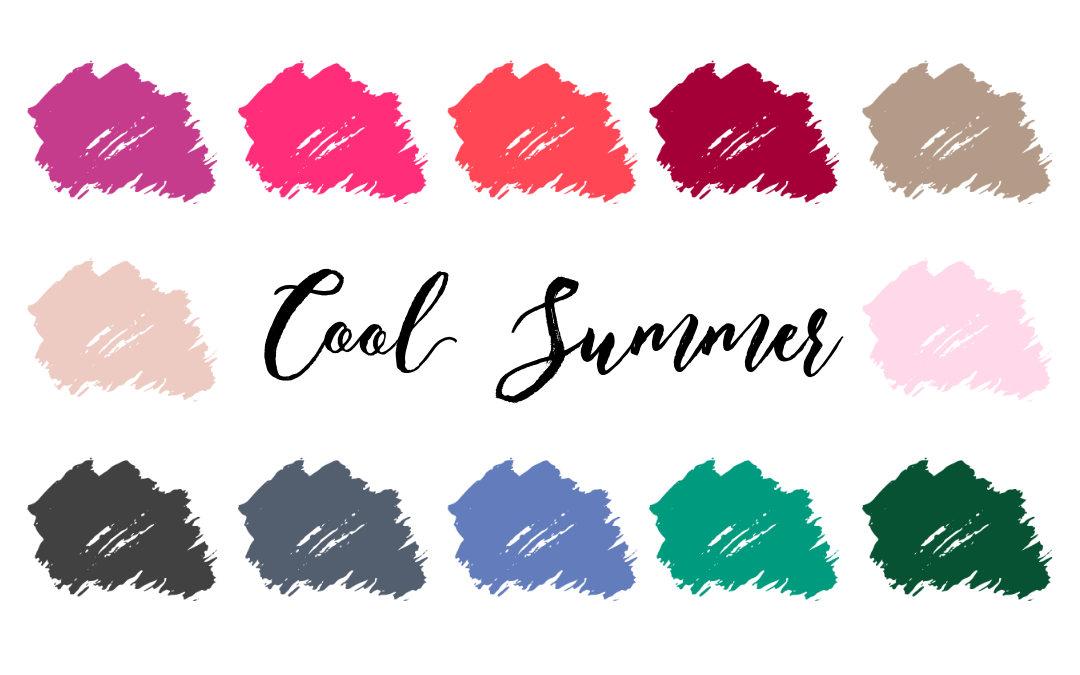 Cool Summer Palette (True Summer, Cool Light)