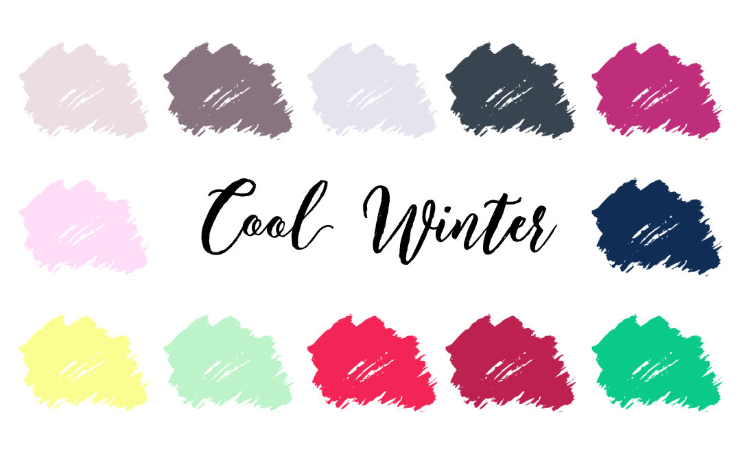 Cool Winter Palette (True Winter, Cool Deep)