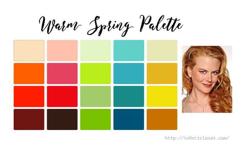 Some colors from the Warm Spring palette