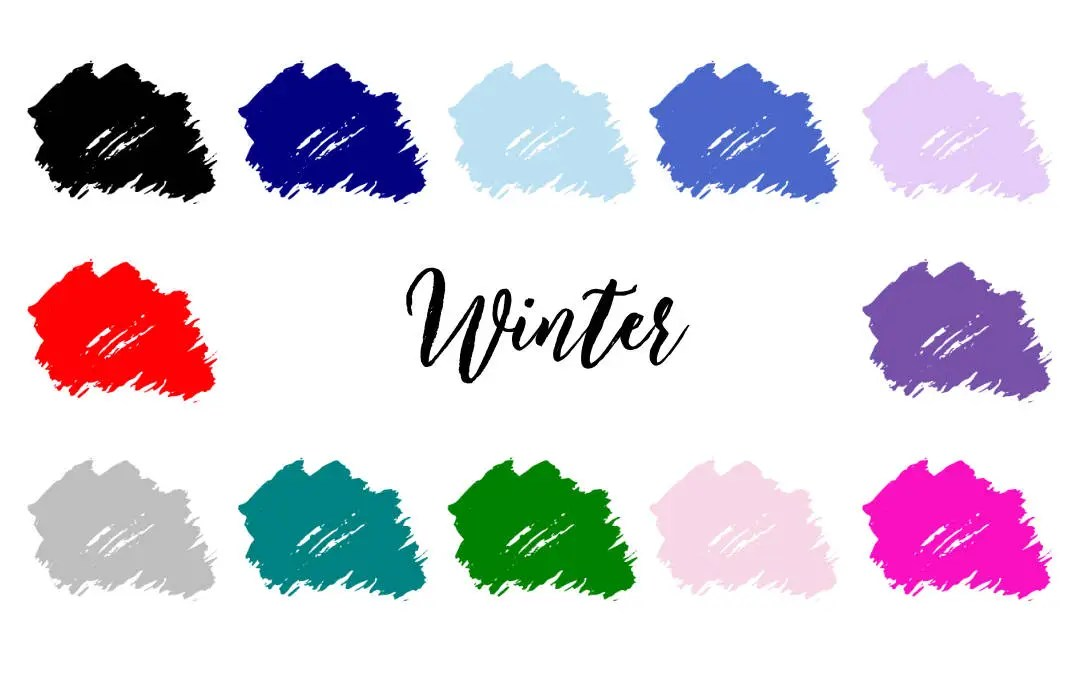 Winter Colour Palette - 4 Season Color Analysis