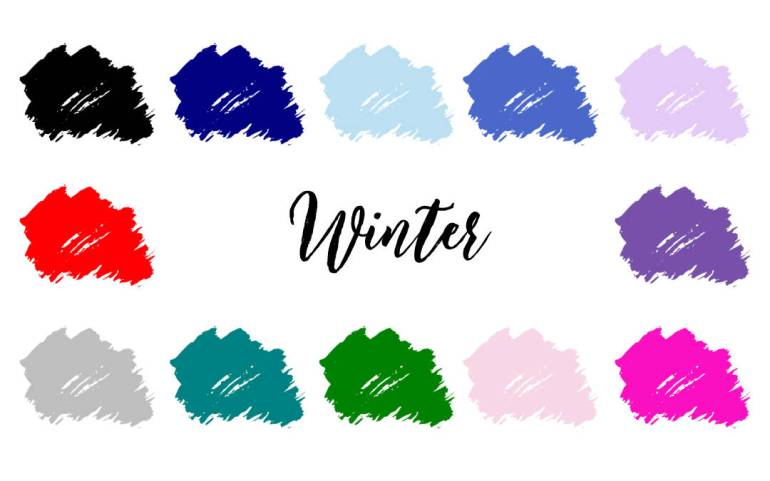 Winter Colour Palette - 4 Season Color Analysis | Infinite Closet