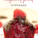 Red Velvet Raspberry Filled Cupcakes