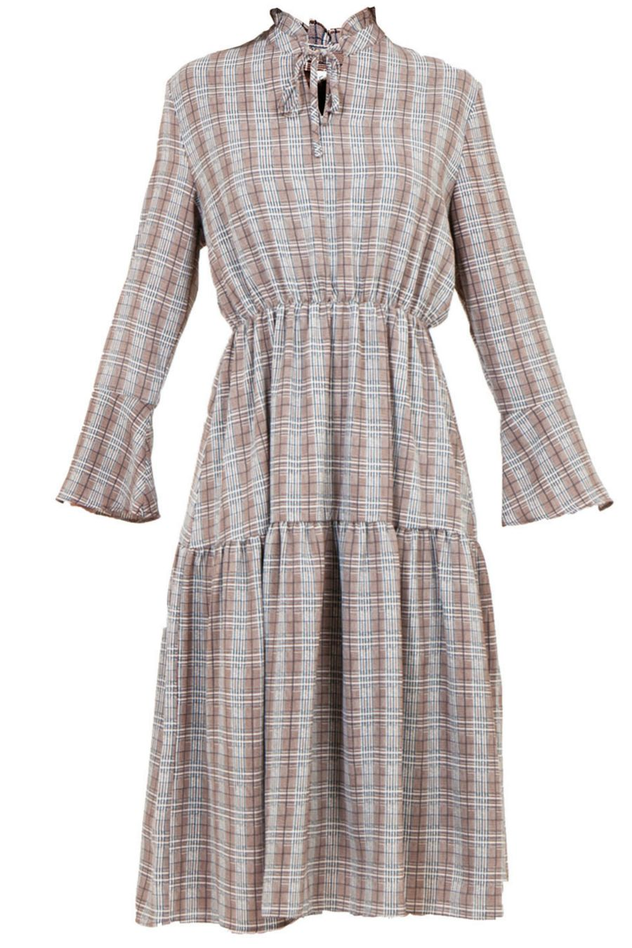 le-mimosa-brown-plaid-midi-dress-1