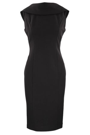 adrianna-papell-roll-neck-sheath-dress-with-v-back-1