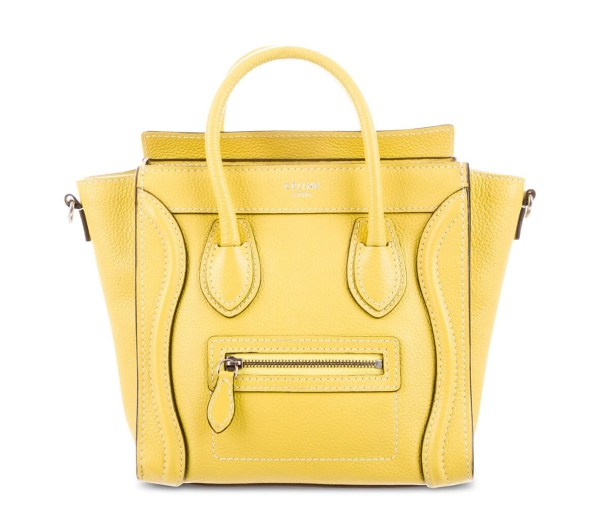 Style Theory Designer Bags_Celine Nano Luggage Yellow