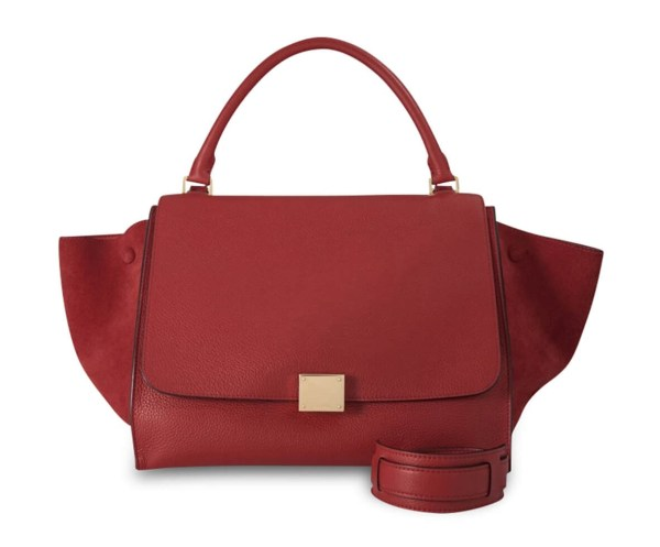 Style Theory Designer Bags_Celine Trapeze Medium Red