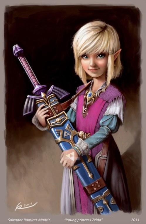 Young Princess Zelda by Salvador Ramirez Madriz (AKA ReevolveR)