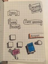 Sketchnotes on paper