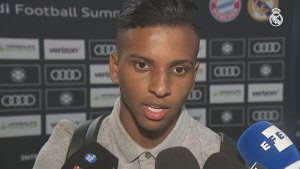 Rodrygo reacts to his first Real Madrid game