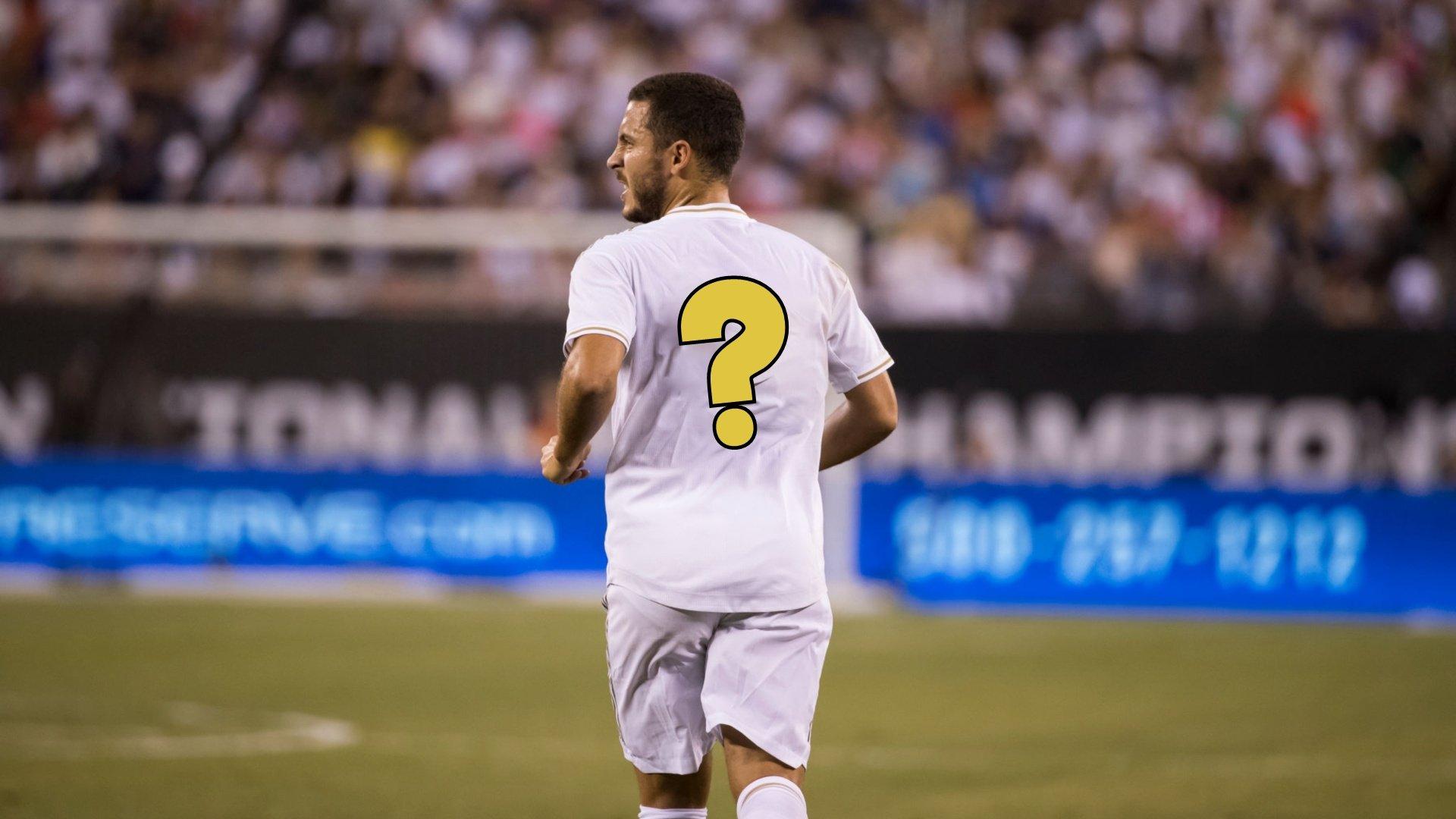 Eden Hazard finally has his new number