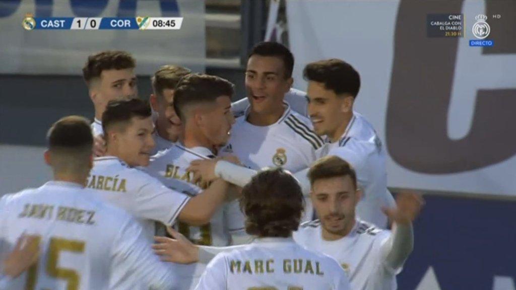 Reinier Jesus scores first goal for Real Madrid Castilla