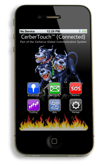 CerberTouch app for iOS home screen.